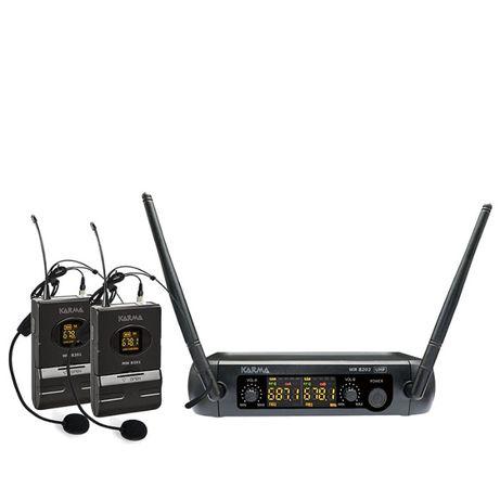Microfone Cabeça s/ Fios (2 unid) + Receptor UHF