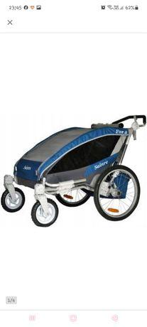 Przyczepka rowerowa / jogger dla 2 dzieci sainre fox 2 jak nowa