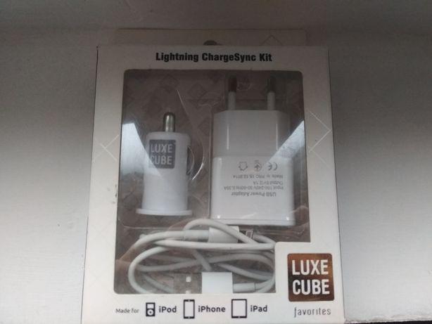Зарядный комплект . Зарядка от прикуривателя Luxe cube 3in1