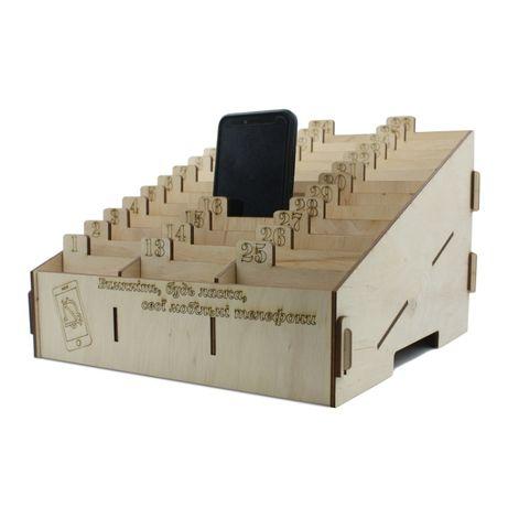 Подставка-органайзер для телефонов и бейджев c номерами на 15-36 ячеек