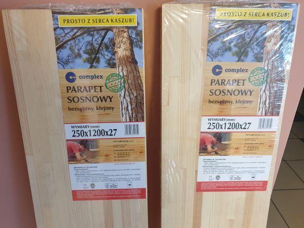 Sprzedam dwa Parapety półki drewniane klejone drewno bezsęczne