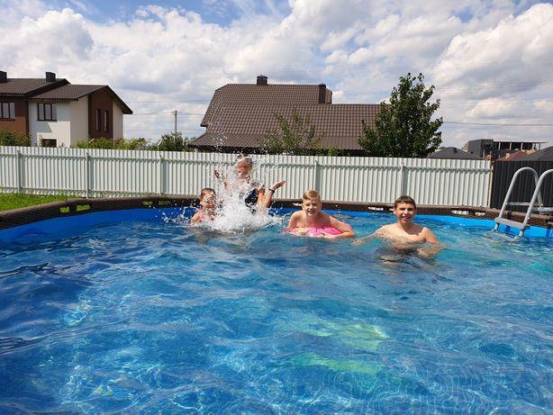 Продам каркасний басейн з підігрівом
