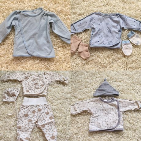 Бодики, человечки, распашонки для новорождённого 0-3мес
