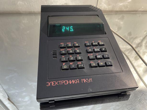 Электроника МКУ1 калькулятор советский ламповый
