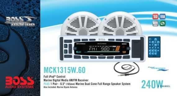 Комплект BOSS Audio Marine MCK1315W.60 морской