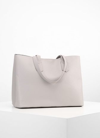 Anna Field Torebka popielata jasnoszara torba mieści A4 AN651HA6C