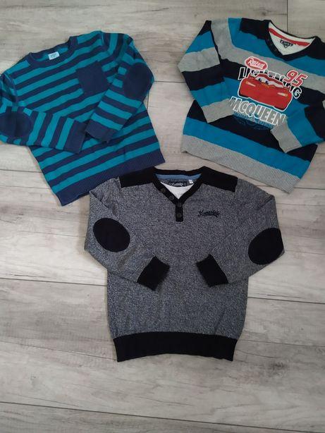 Zestaw sweterków dla chłopca r.116