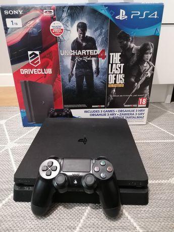 Konsola Ps4 slim dysk 1000gb stan idealny sprzęt PlayStation 4