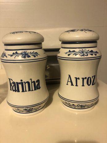 Frascos mercearia porcelana vintage