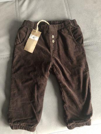 Nowe ocieplane spodnie newbie roz 86