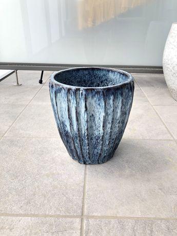 Donica ceramiczna niebieska 25x26cm