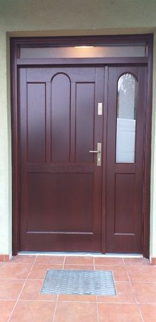 Drzwi zewnętrzne gr.6 cm dębowe ocieplane wymiar zewn.2270x1460