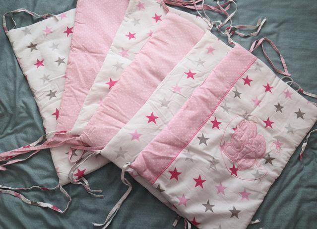 Бортики на кроватку,одеяло,балдахин+крепление,простынь на резинке