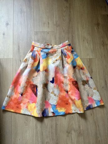 Spódnica rozkloszowana kolorowa H&M super stan 42