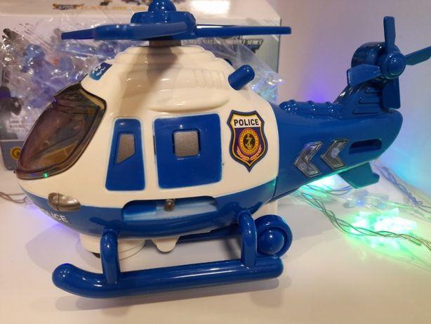 Вертолет полицейский музыкальный,свет,конструктор