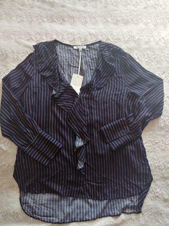 Sweewe wiskozowa koszula w paseczki rozmiar L