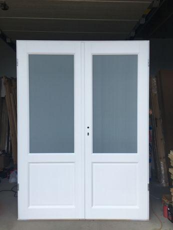 Drzwi wewnętrzne dwuskrzydłowe białe