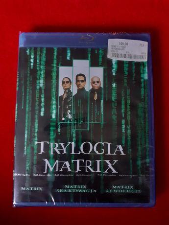 MATRIX Trylogia filmy blu-ray (nowe w foli)