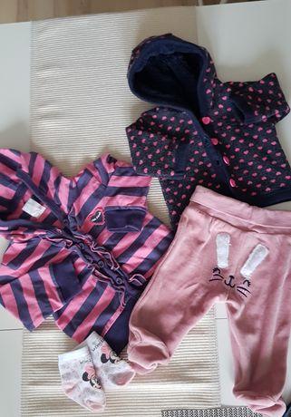 Bluzy i Półśpiochy 62. Zestaw dla dziewczynki.  Wyprawka