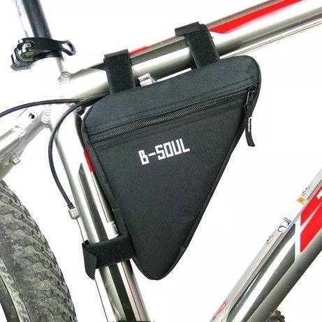 Велосипедная сумка на раму вело бардачек B-Soul треугольная