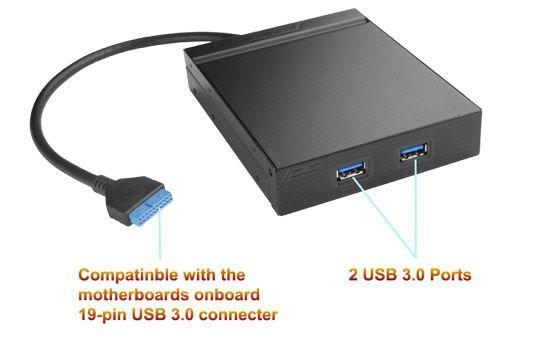 """Asus 2 portas externas USB 3 - baía 3.5"""""""