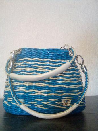 сумка жіноча плетена