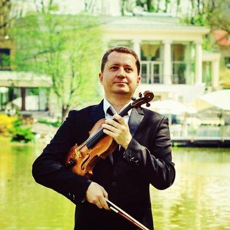 Скрипач - солист оркестра.LED шоу на скрипке.