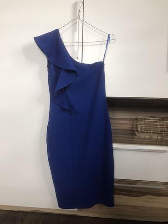 Sukienka Mohito kobalt falbana xs