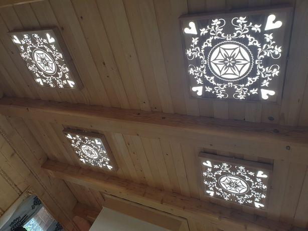 plafon led, żyrandol góralski, lampa sufitowa PRODUCENT