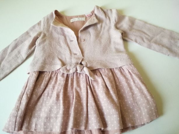 sukienka różowa zara r.98