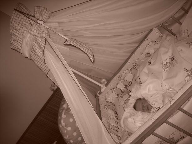 Baldachim ze stelażem na łóżeczko, komplet, baldachim, stelaż