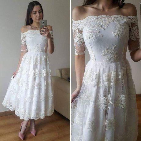 Suknia ślub,Sukiena biała, poprawiny, ślub, wesele, rustykalna