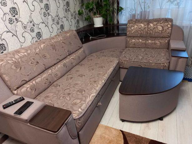 диван угловой с журнальным столом