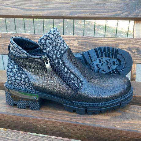 Женские кожаные ботинки демисезон Турция