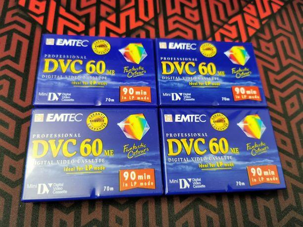 Zestaw - 4 kasety mini DV do kamery cyfrowej - nieużywane, zafoliowane