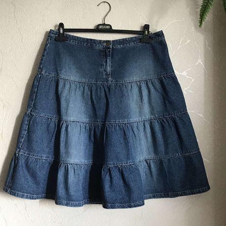 Крутая джинсовая юбчёнка! 52-56р