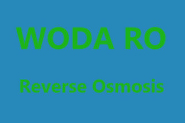 Woda RO - reverse osmosis, akwarium
