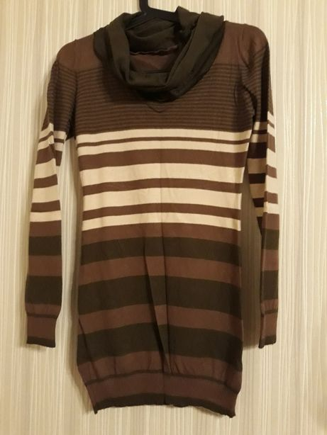 Sweter golf w paski r. 38