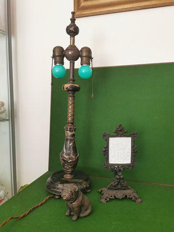 Candeeiro de secretária em mármore e bronze