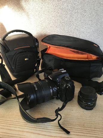 Фотоапарат Nikon d7000 + 2 об'єктива nikkor 50 mm 1,8 та sigma