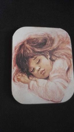 Obrazek portret dziecka Prl Muszyńska