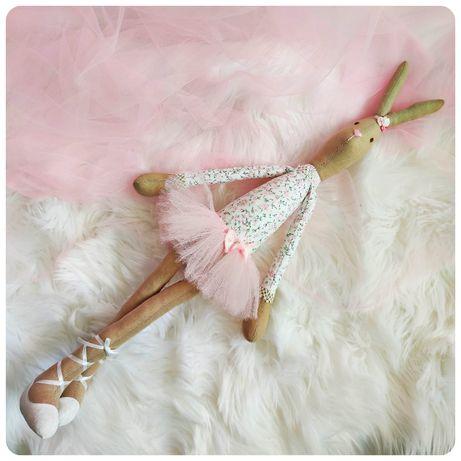 Królik Króliczka Baletnica Tiul Tutu Hand Made Rękodzieło Przytulanka