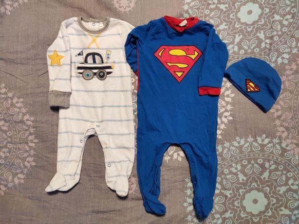 Человечек с машинкой,супермен на 3-6 месяцев