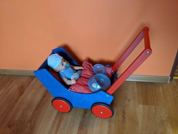 Wózek/pchacz drewniany Haba nauka chodzenia i zabawa