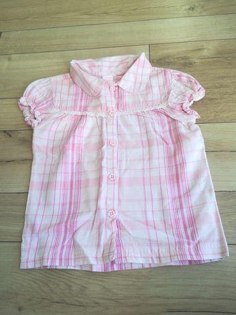 Bluzka koszulowa z krótkim rękawem firmy Reserved rozmiar 86