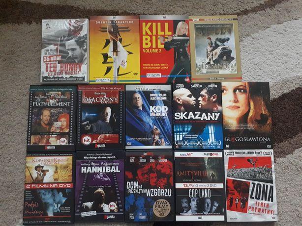Zestaw filmów DVD 18szt Amityville Blade Kill Bill Hannibal