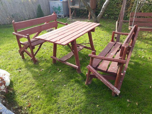 Meble ogrodowe stół plus ławki tanio