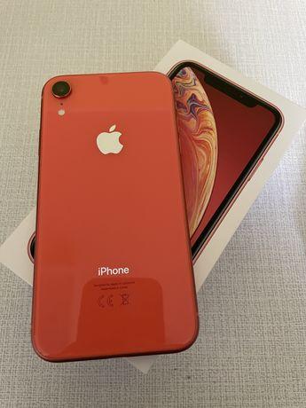 Iphone Xr 64GB koralowy stan bardzo dobry + szkło i etui