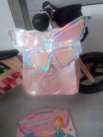 Plecak motylek holograficzny
