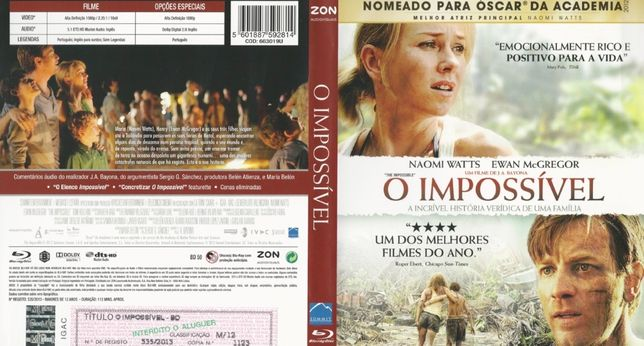 Bluray: O impossível (The Impossible)